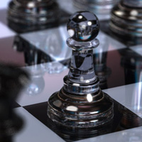 3d glass chess set.