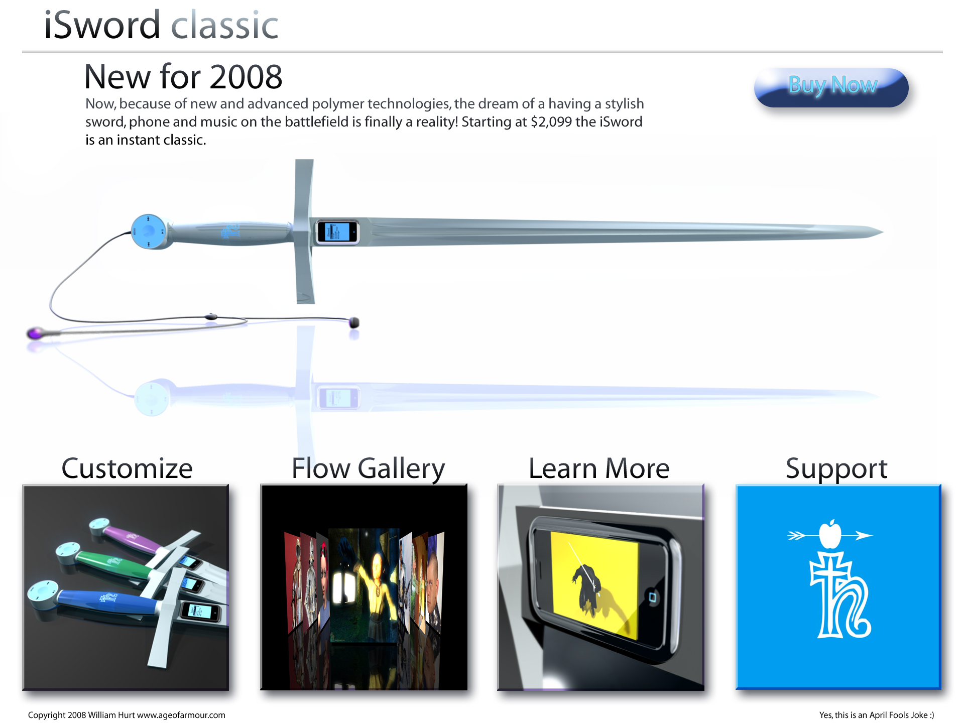 Sword with built in mp3 player.