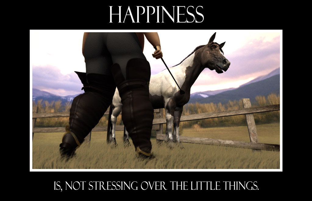 Funny motivational poster made with DAZ Studio