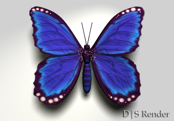 Age of Armour - Free 3d Butterfly figure for Daz Studio and Poser