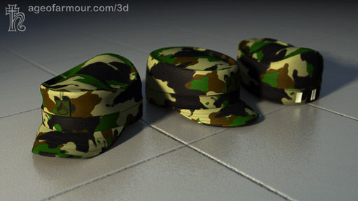 Carrara6 Render of a US Army patrol cap.