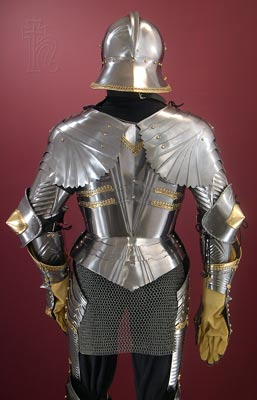German Gothic armour rear view