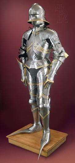 Gothic armour inspired by the work of Lorenz Helmschmeid