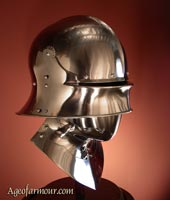 Sallet close helm